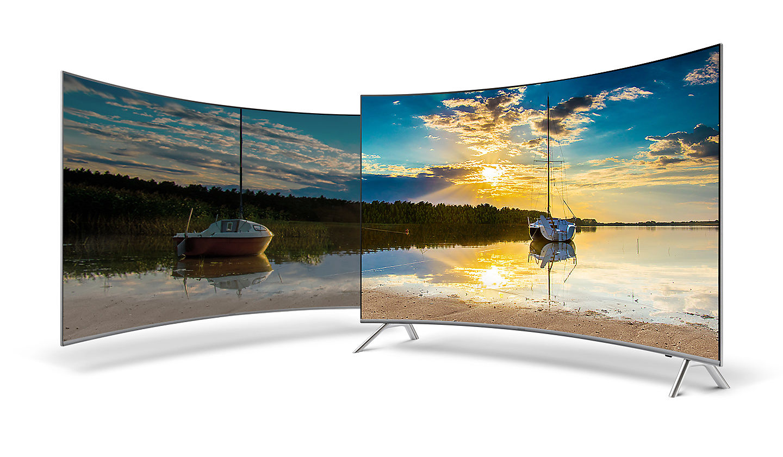 Samsung Un55mu8500fxzc Curved 4k Uhd Tv 55 Class # Meuble Tv Separation