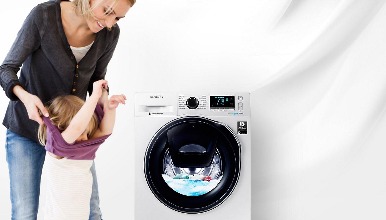Lavadora De Carga Frontal Samsung Addwash Ecobubble Ww90k6414qw Ec  ~ Electrodomesticos El Corte Ingles Lavadoras