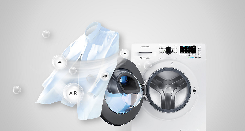 Lavadora Secadora Samsung Addwash Ecobubble Wd80k5410ow Ec De 8 Kg