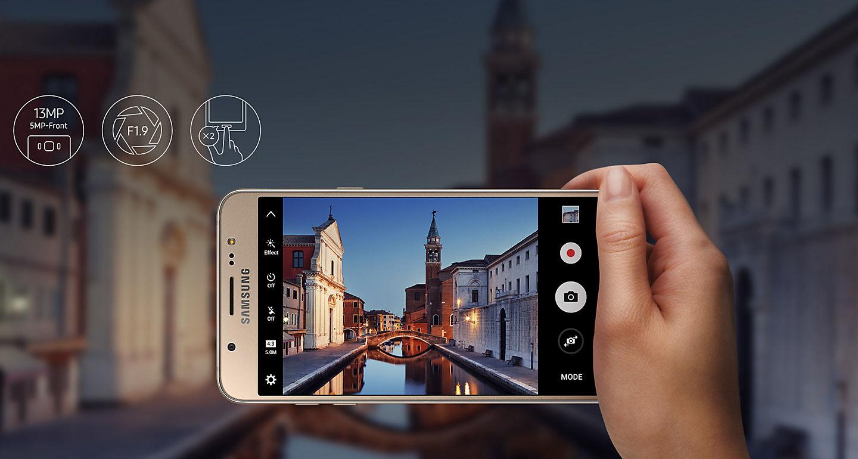 Nikmati Hasil Foto Yang Begitu Jelas Bahkan Saat Kondisi Penerangan Kurang Baik Samsung Galaxy J7 2016 Hadir Dengan Lensa F19 Unggul Dan Cepat