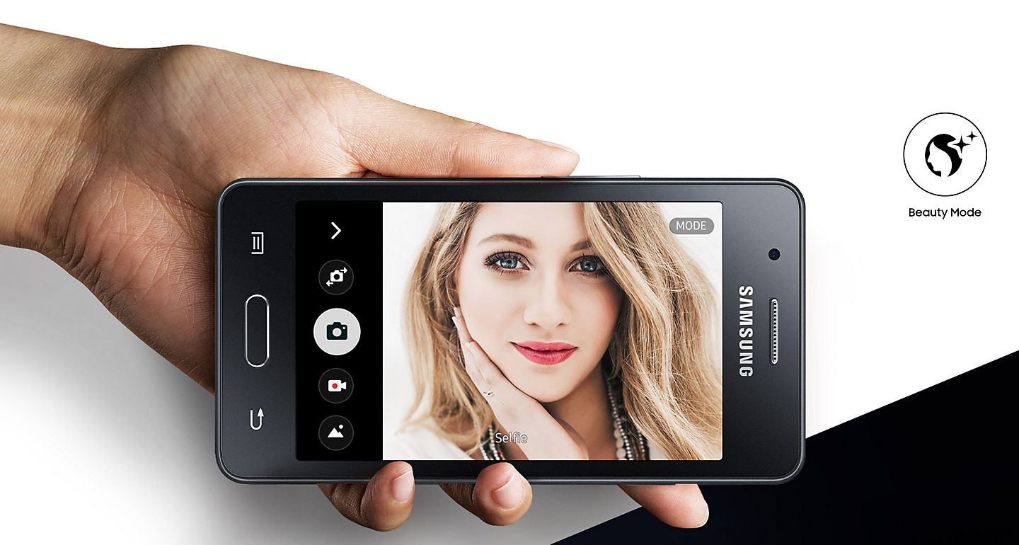 Jual Samsung Z2 Smartphone Black 8gb 1gb Online Harga Promo Gold Garansi Resmi Indonesia Sein Make Your Selfies Really Shine Beauty Mode Lets You Retouch Pictures With An Airbrushed Effect While Auto Selfie Automatically Takes Images For