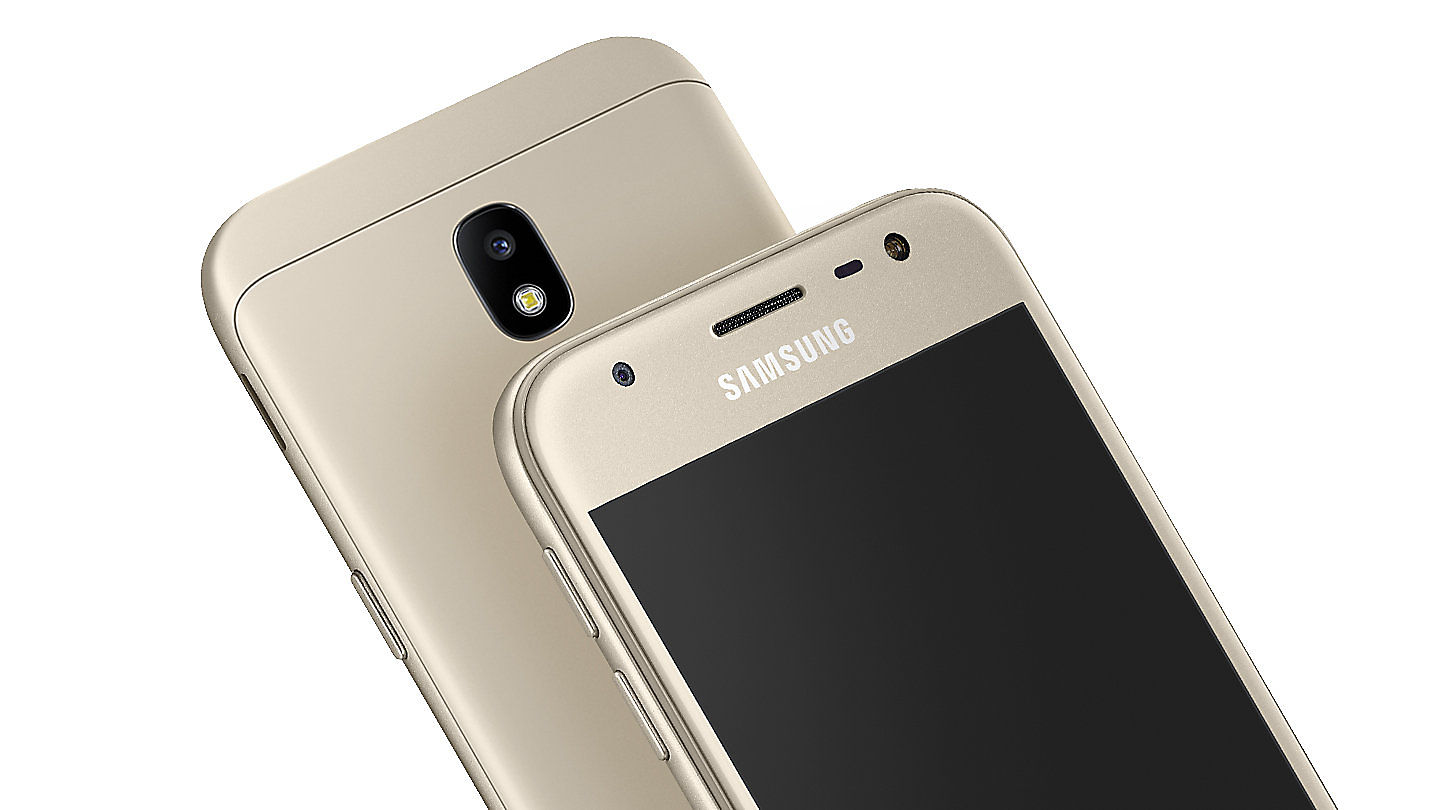 The New Samsung Galaxy J3 Pro Features A Stunning Uniform Metal Finish With Zero Camera Protrusion For Superior Grip And 25 D Glass Shielding Its 50