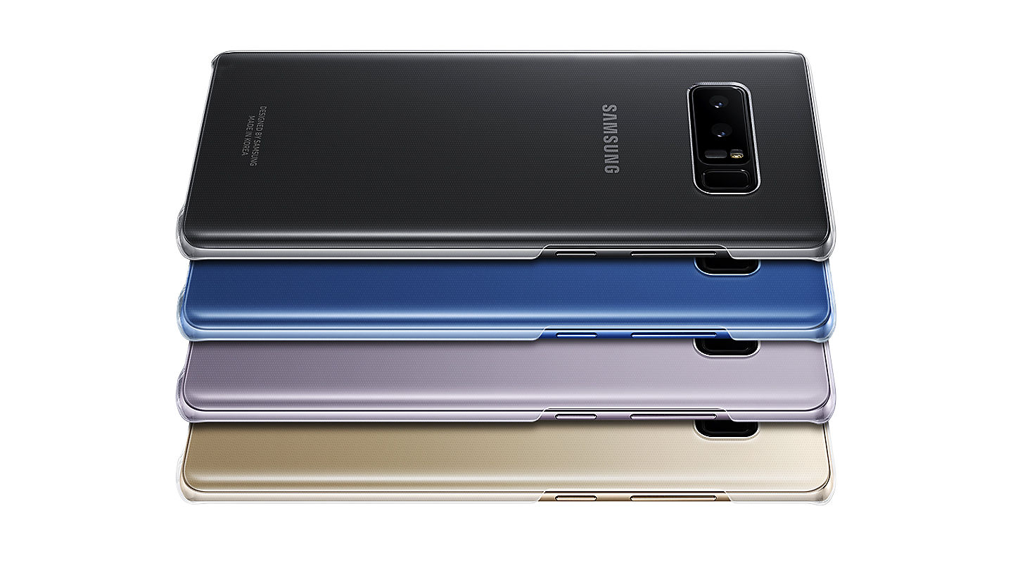 samsung note 8 clear cover