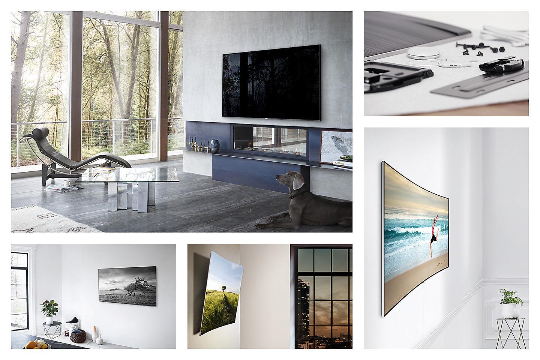 Samsung Ctc Lebanon No Gap Wall Mount For 65 55 Q Series Tvs  # Meuble Tv Angle Spaceo