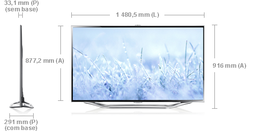 Well-known Samsung TV LED 3D UE65ES8000 Smart Tv 165cm - TV 3D - Compre na  QS31