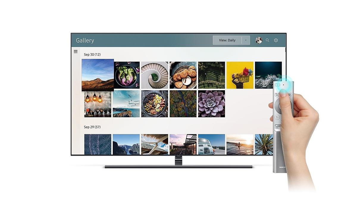 Samsung Qe55q9fn 55 4k Ultra Hd Hdr Qled Smart Tv With 5 Year Wiring Diagram Free Download Further Control Your The More Intelligent Way Voice Assistant Its Easier Too Just Tell It To Flip Channel Search For Content And Open Apps