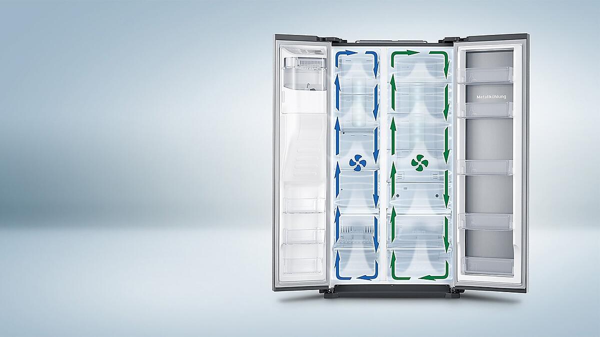 Side By Side Kühlschrank Schwarz Glasfront : Samsung kühlschrank schwarz glas: samsung chef collection rl j b
