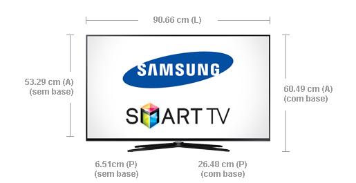 """Top Smart TV LED 40"""" Slim Full HD Samsung UN40H5550 com Processador  BR31"""