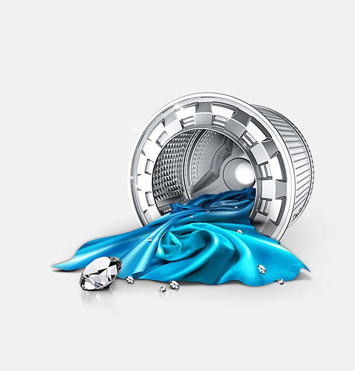 Samsung WD 80 J 6400 AW Stand-Waschtrockner weiß / A | EURONICS.de
