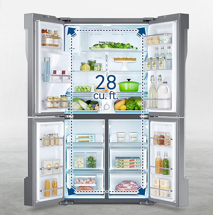 Samsung 36 In 281 Cu Ft 4 Door French Door Refrigerator With