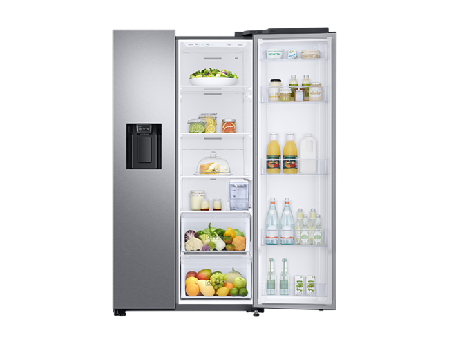 Siemens Kühlschrank Abtauen Knopf : Samsung rs6gn8322sl side by side kühl gefrierkombination a