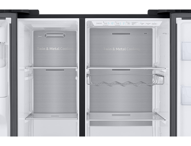 Side By Side Kühlschrank Umbaut : Samsung rs gn b eg side by side schwarz