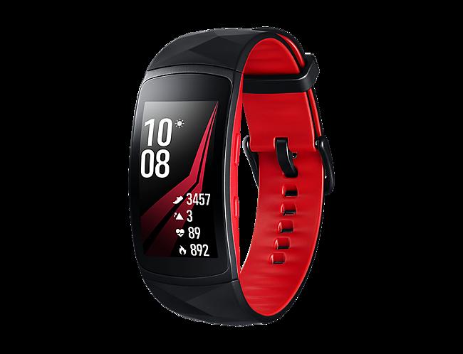 57bb3bb79c72 Pulsera de actividad Samsung Gear Fit 2 Pro Negra Roja · Electrónica ...