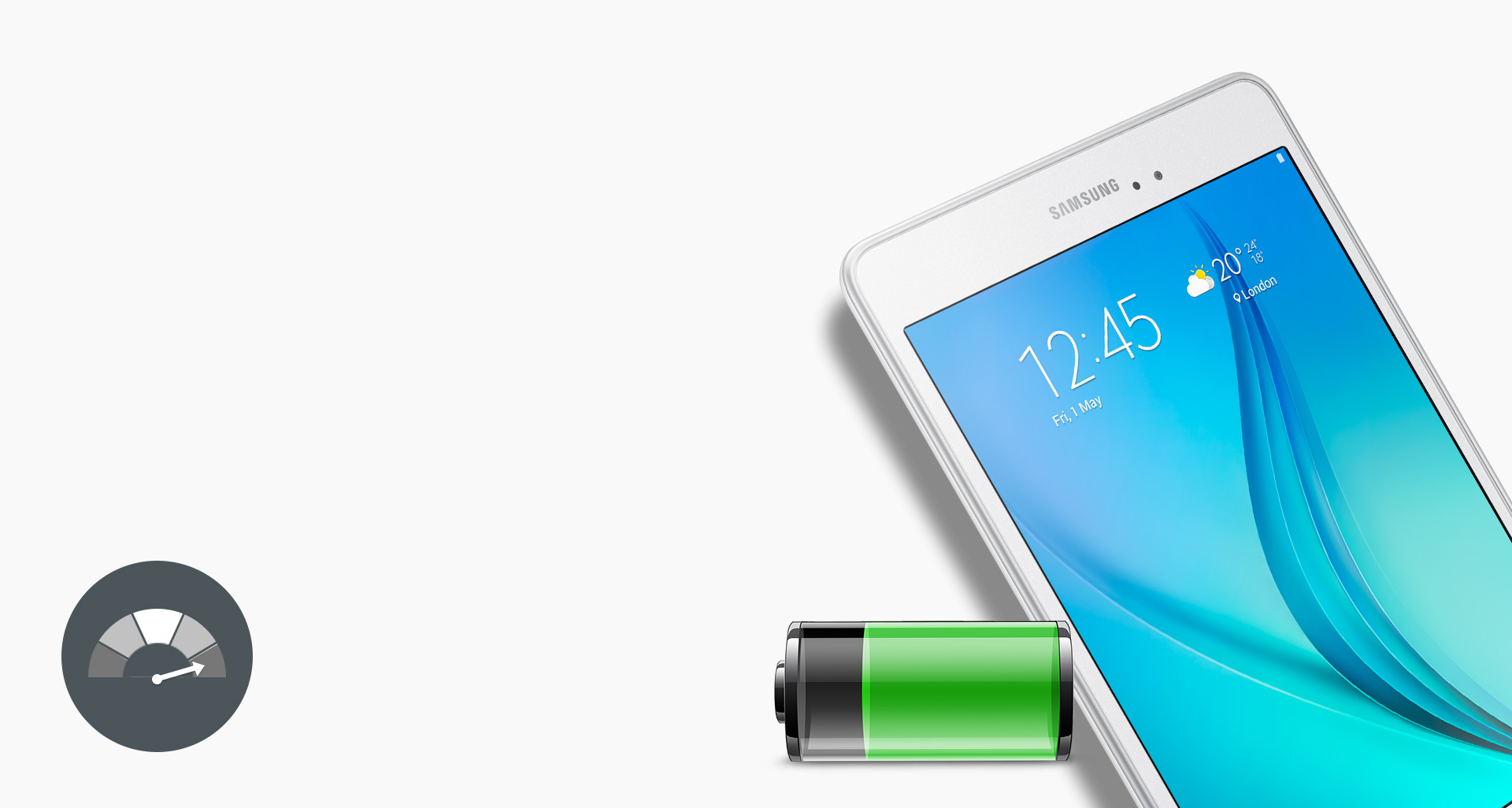 Samsung sm t350nzwaxsa galaxy tab a 80 wifi 16gb at the good guys long life battery fandeluxe Gallery