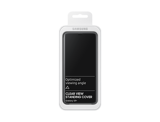newest 85a5b 91942 Samsung 1091101381 Galaxy S9 Plus Clear View Standing Cover - Black at The  Good Guys