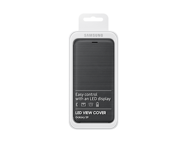 more photos 98e84 a0255 Samsung LED View Cover for Galaxy S9 (Black)