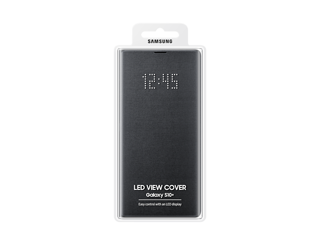 Samsung 1091101615 Galaxy S10 Plus LED View Cover - Black at The Good Guys