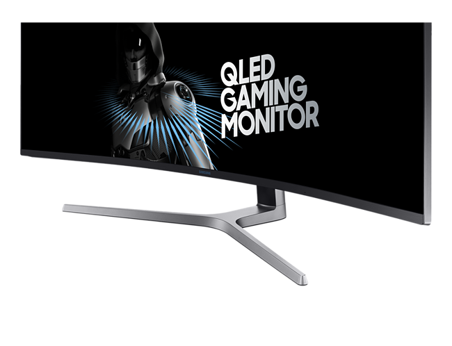 Samsung 49-Inch Curved QLED Gaming PC Monitor Black - eXtra Saudi