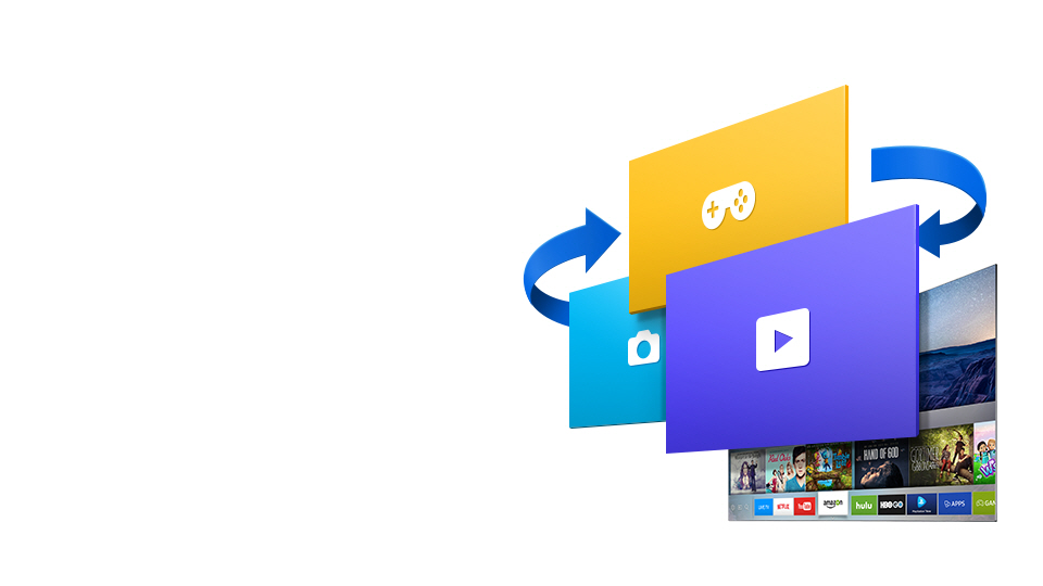 samsung smart hub logo. accelerate your smart tv with tizen samsung hub logo g