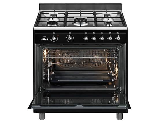 Piano De Cuisson Smeg SCBMCN Darty - Cuisiniere 4 feux gaz four electrique pyrolyse pour idees de deco de cuisine