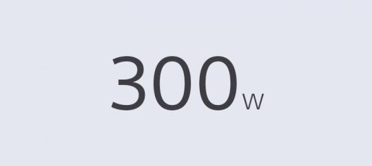 Potencia de salida total de 300W