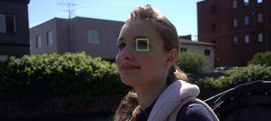 Автофокусировка по глазам в режиме непрерывной автофокусировкиAF‑C