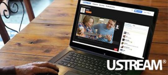 Прямая трансляция видеопотока с помощью Ustream®