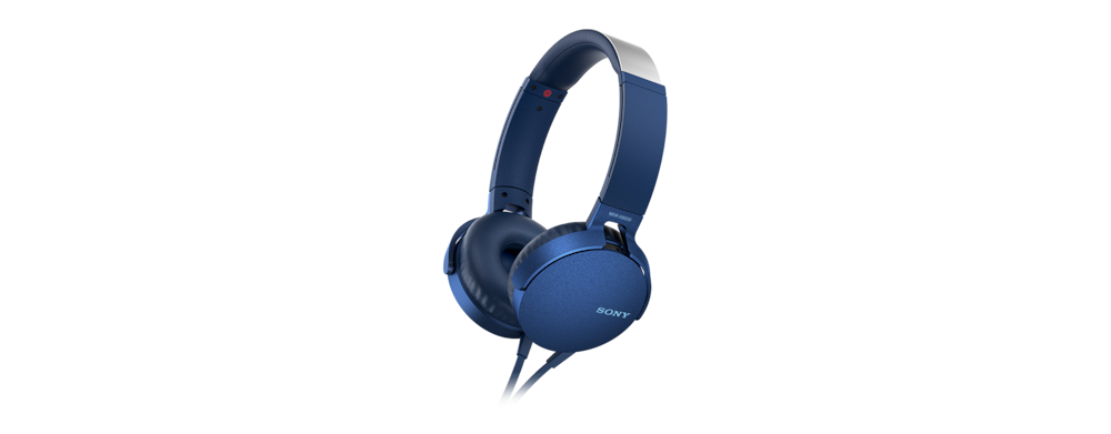 Sony MDRXB550APL Extra Bass Headset Blue at The Good Guys