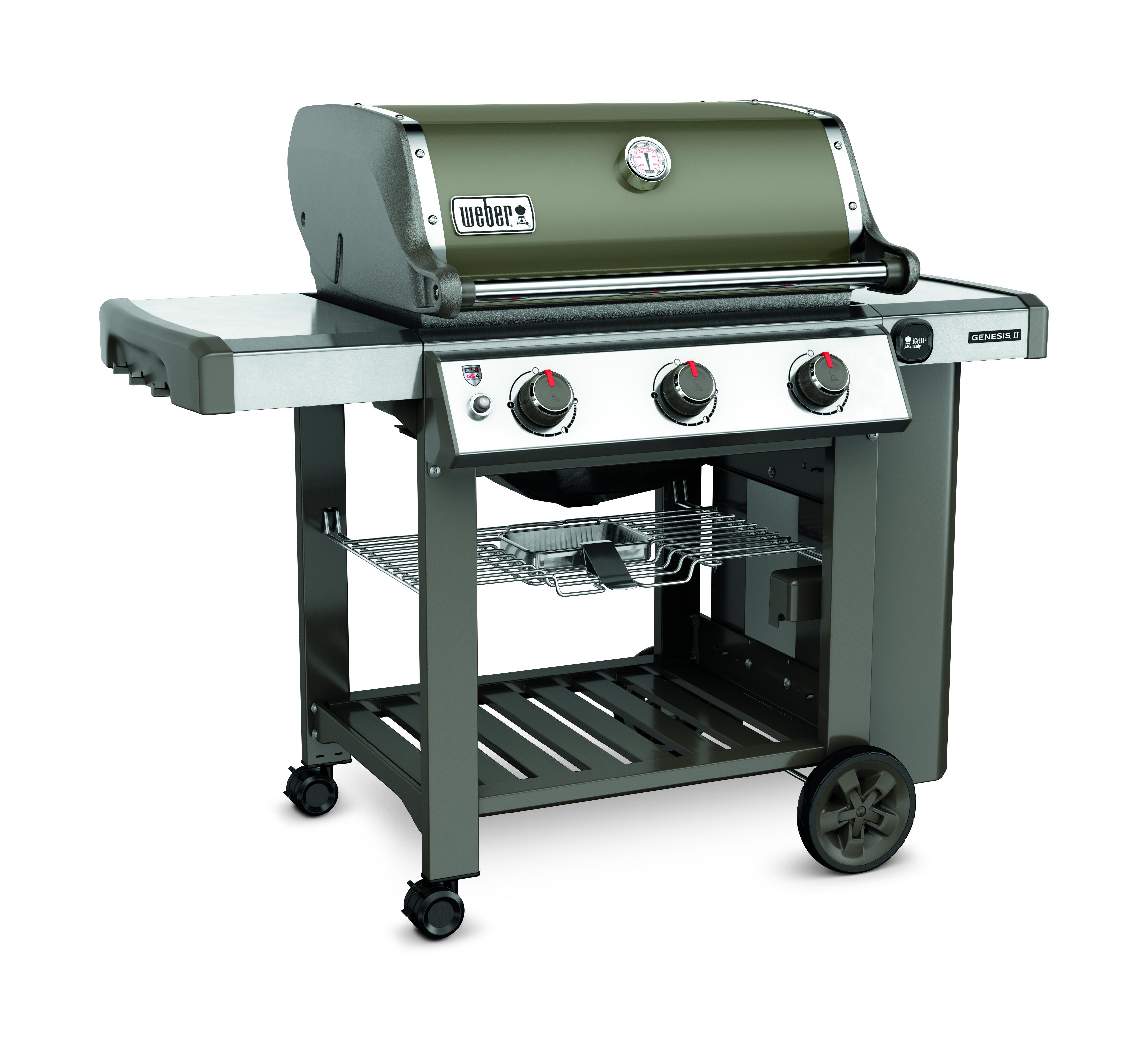 barbecue americain weber genesis ii e-310 gbs smoke grey - 61050153