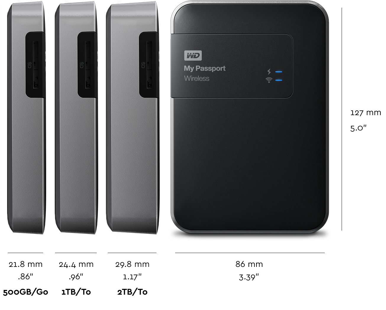 Wd My Passport Wireless 1tb Usb 30 Black External Hard Drive Technical Specifications