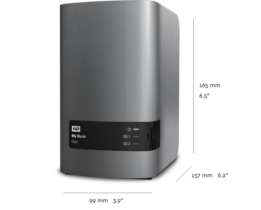 Wd 16tb My Book Duo Desktop Raid External Hard Drive Usb 3