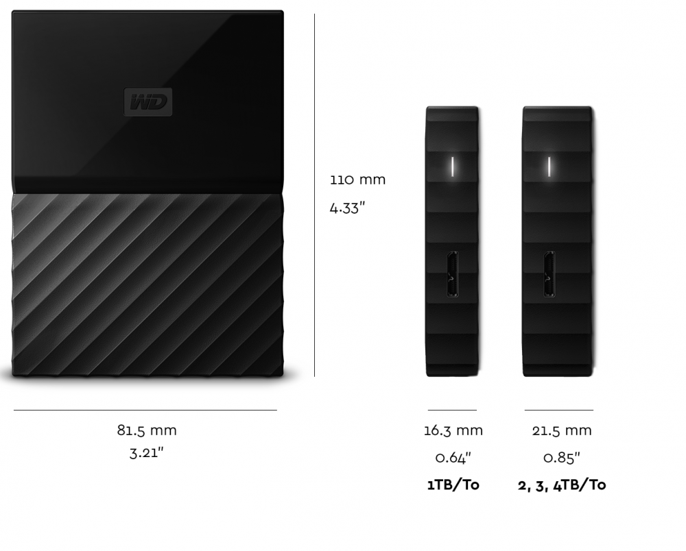 WD My Passport Portable External Hard Drive 2TB USB 2.03.0 ...
