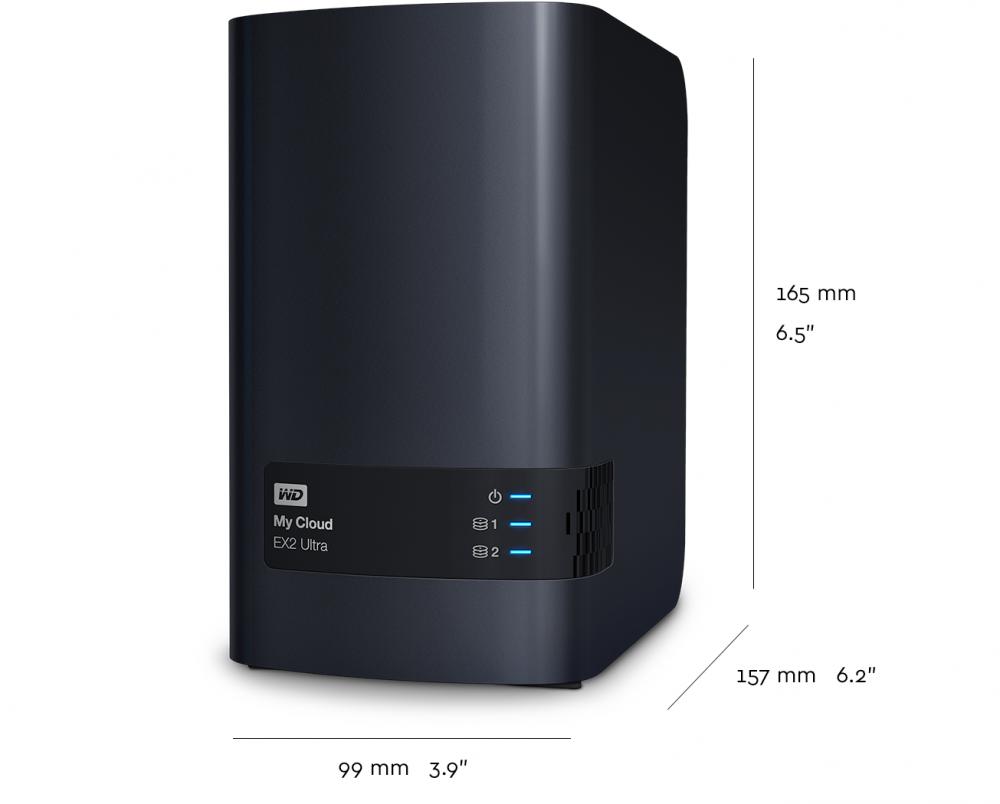 WD 4TB My Cloud EX2 Ultra Network Attached Storage - WDBVBZ0040JCH ... fe716d1d0ea1