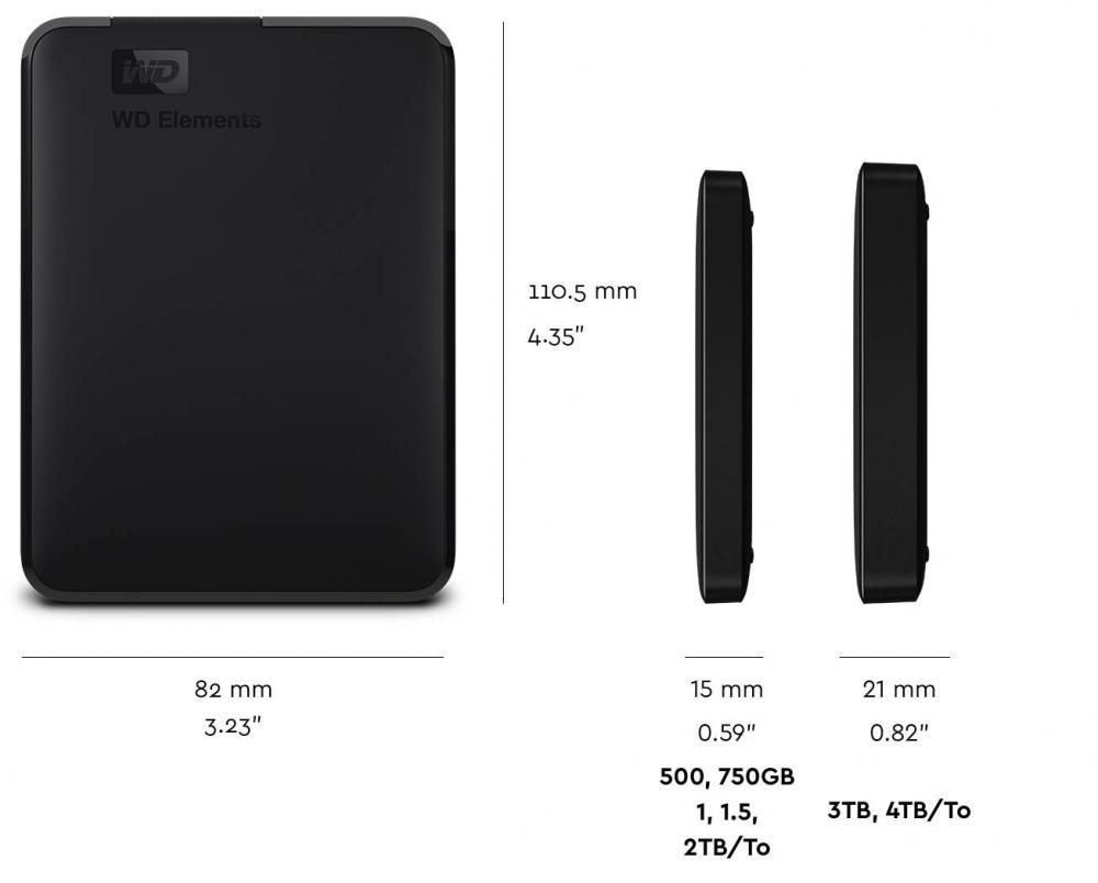 Wd 2tb Usb 3 0 Wd Elements Portable Portable External Hard
